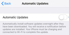 Disable iOS Automatic Update